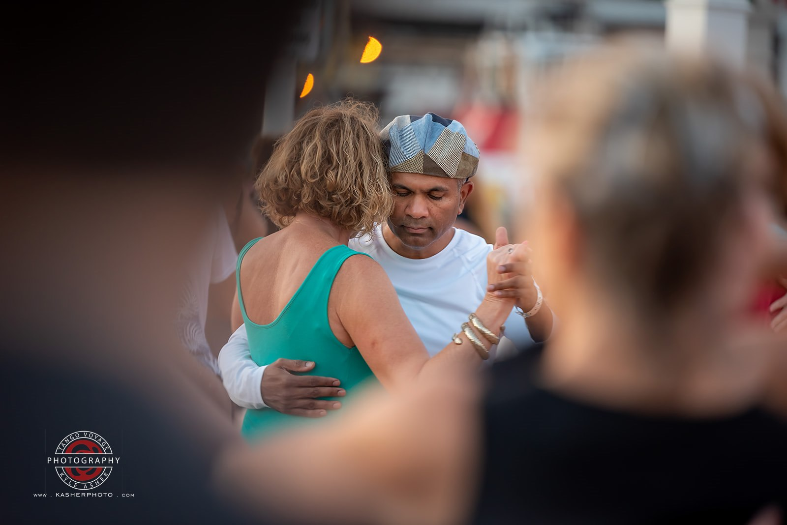 Close Embrace Dancing on the Pier at San Diego Tango Festival